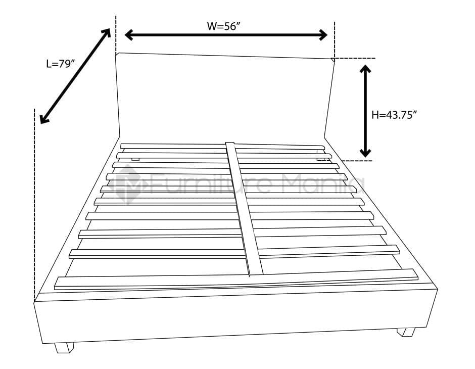 6010 Contemporary bed frame dimension