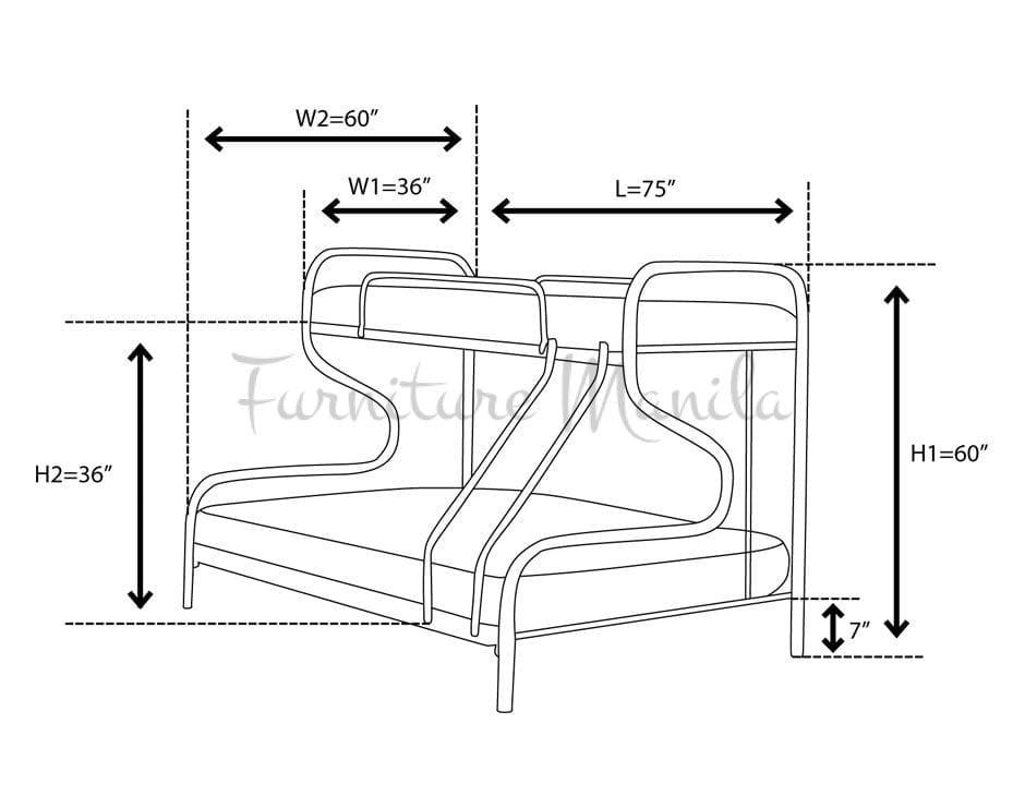 bunk beds dimensions