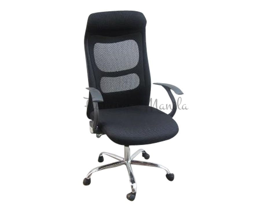 011 mesh office chair hi back metal leg