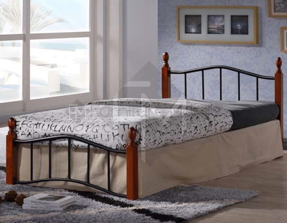 13888 Wooden Post Bed Frame