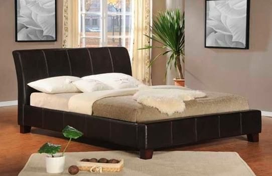 Baxton modern upholstered bed frame home office for Sale bedroom furniture in the philippines
