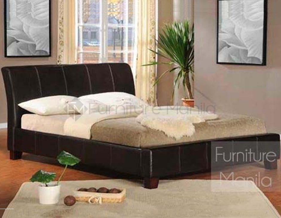 baxton modern upholstered bed frame home office furniture philippines - Modern Furniture Philippines