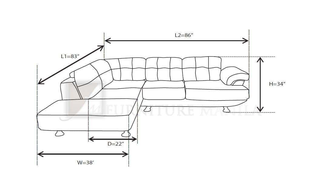 Standard Sofa Dimensions In Feet