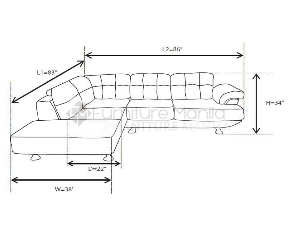 Mhl 002 belarus l shaped sofa dimension