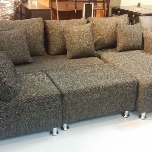 Incredible Cheap Sofa For Sale Philippines: Lorna L-Shaped Sofa With Stool