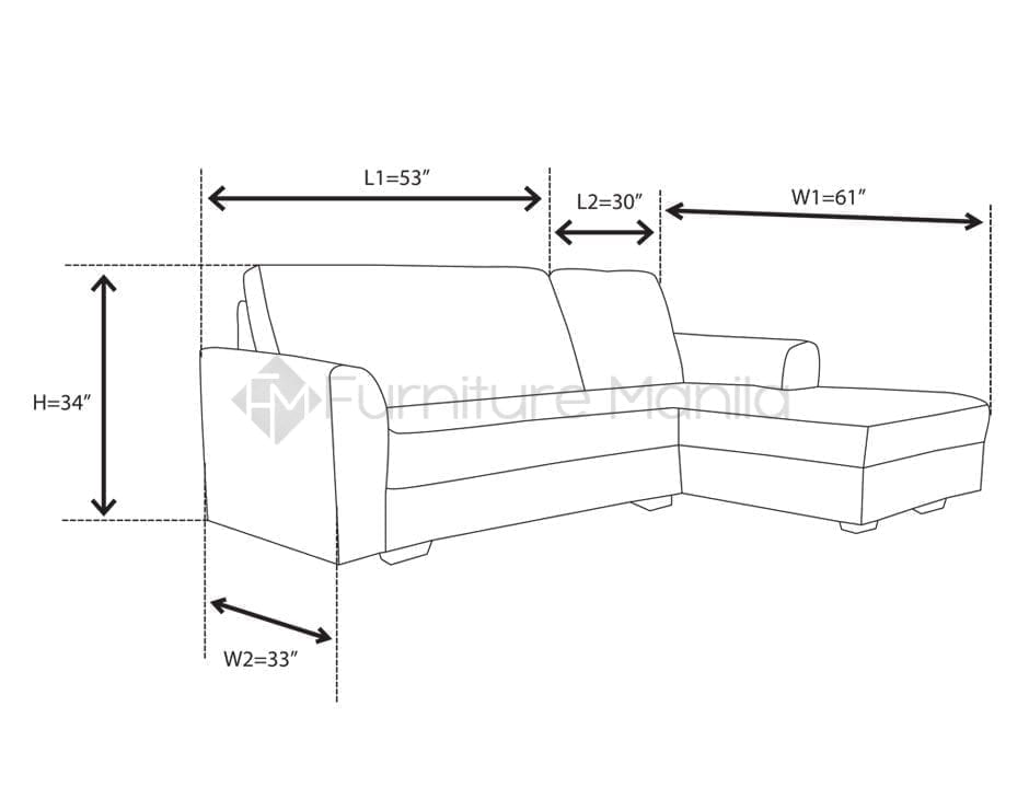 alba l shaped sofa