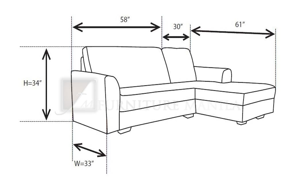 Dimensions Of L Shaped Sofa Hereo. Standard ...