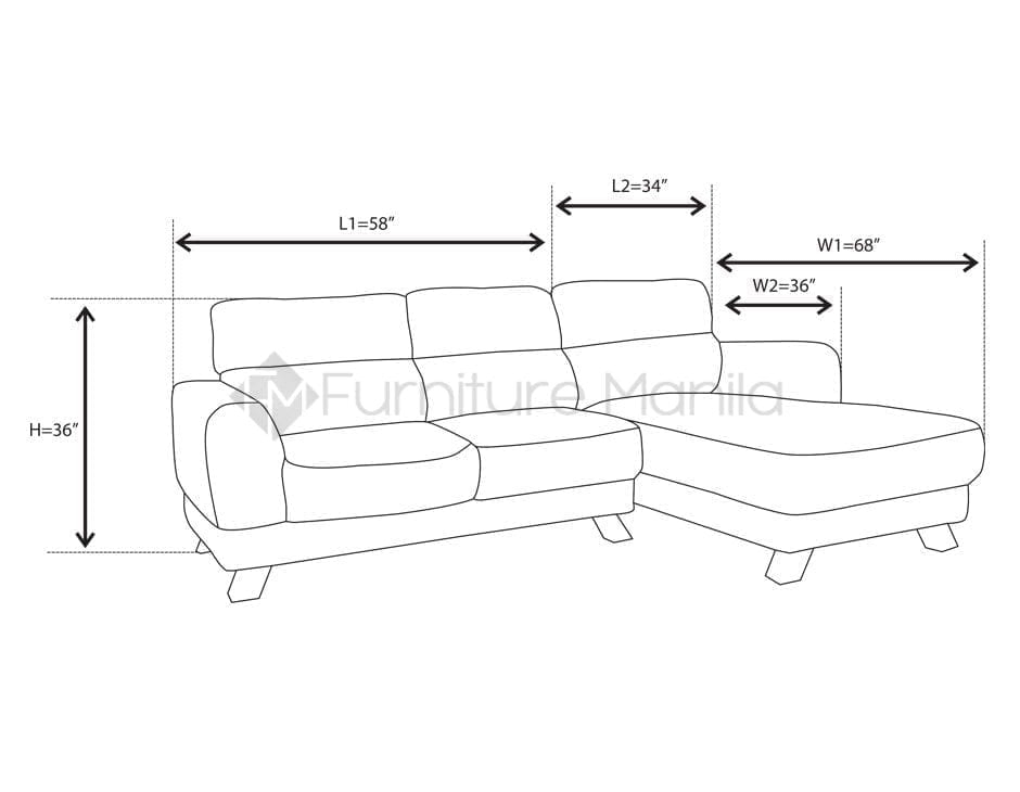 mhl 0072 azores l shaped sofa