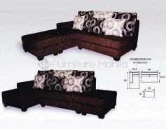 Aginaya L-Shaped Sofa with Stool
