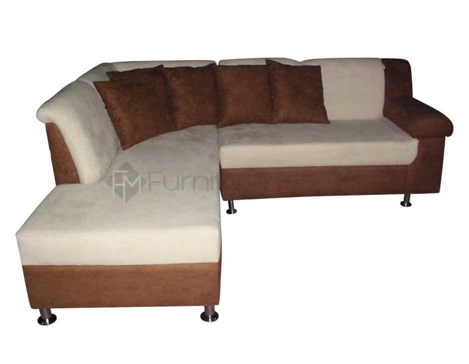 Akon L-Shaped Sofa dark base
