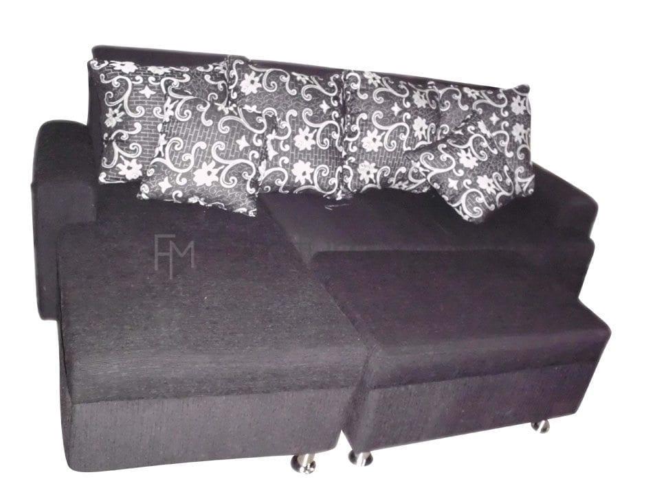 Amaretta L-Shaped Sofa with Stool