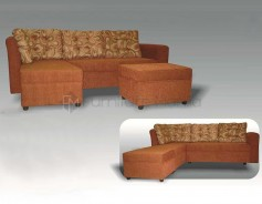 Dorothy L-Shaped Sofa with Stool