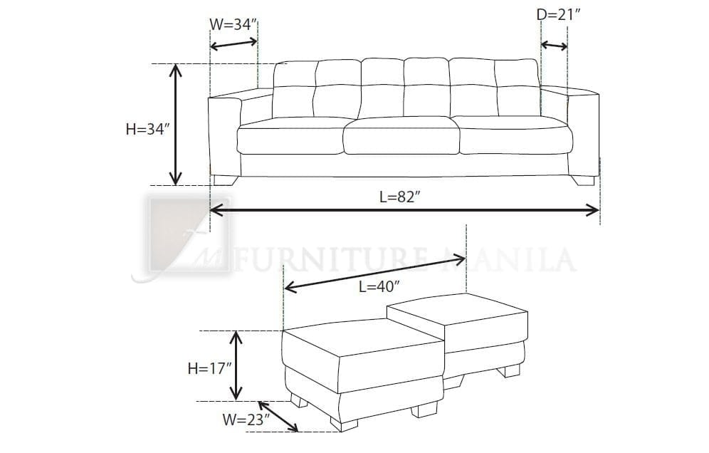 Sofa Furniture Kitchen 2 Seater Couch Dimensions