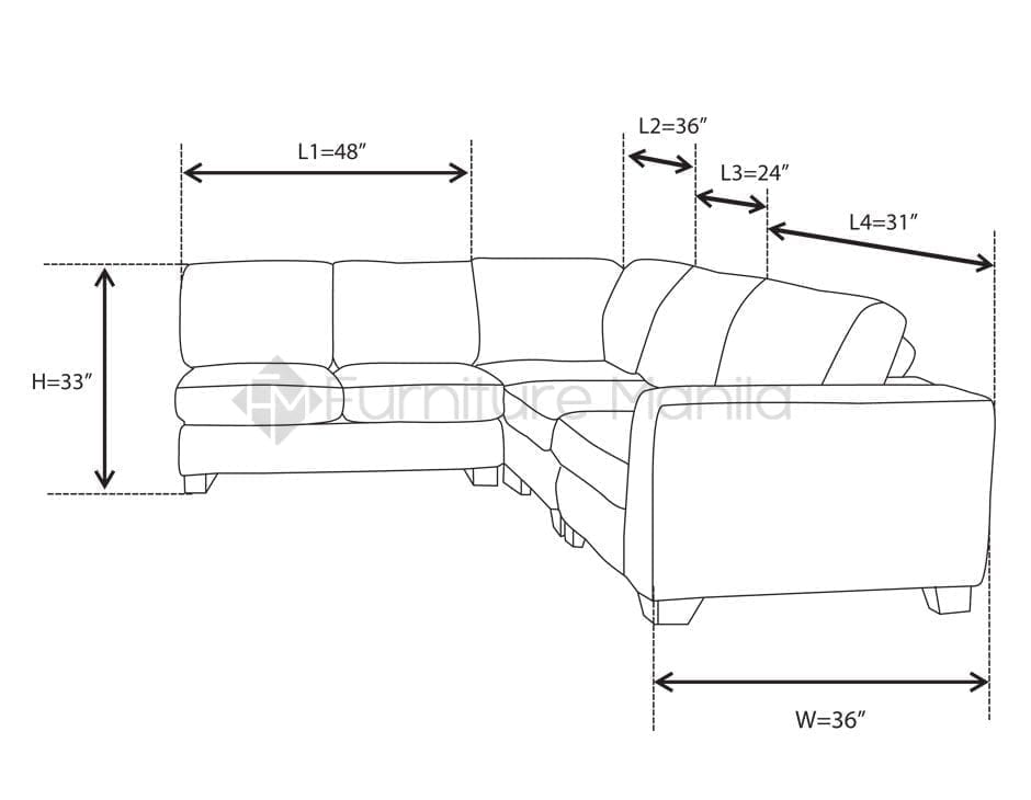 Mhl0021 Uruguay L Shaped Sofa Home Office Furniture Philippines