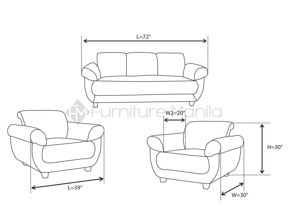 YG311 Wooden Sofa Set | Home & Office Furniture Philippines