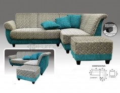 MHL 0030 Denmark L-Shaped Sofa with Stool
