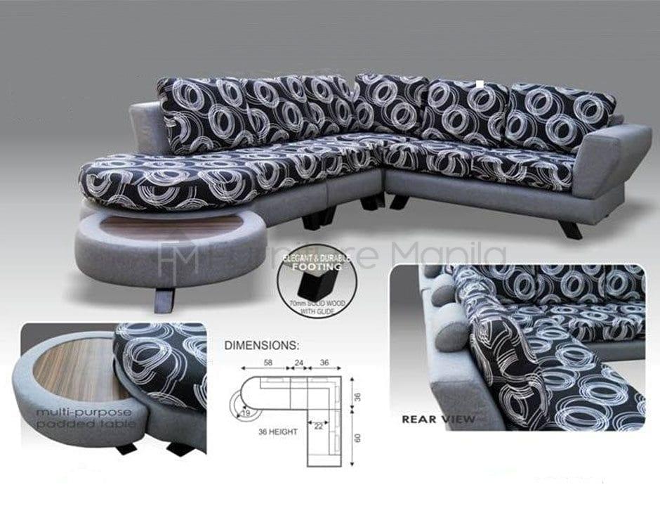 MHL 0032 France L-Shaped Sofa