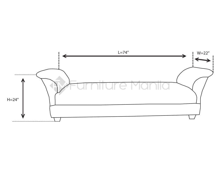 Mhl 0048 ecuador divan sofa home office furniture for Furniture dimension