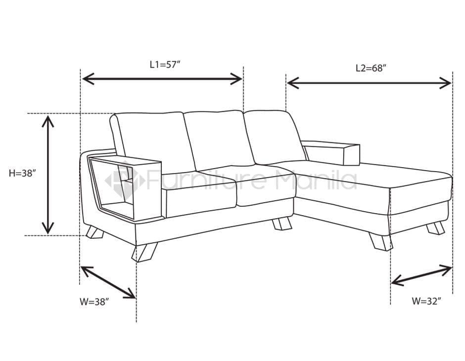 MHL 0053 Armenia L-Shaped Sofa with Stool | Home & Office ...