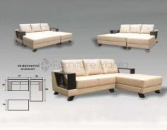 MHL 0053 Armenia L-Shaped Sofa with Stool
