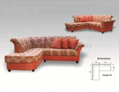MHL 0054 Belgium L-Shaped Sofa