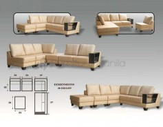 MHL 0060 Conception L-Shaped Sofa with Stool