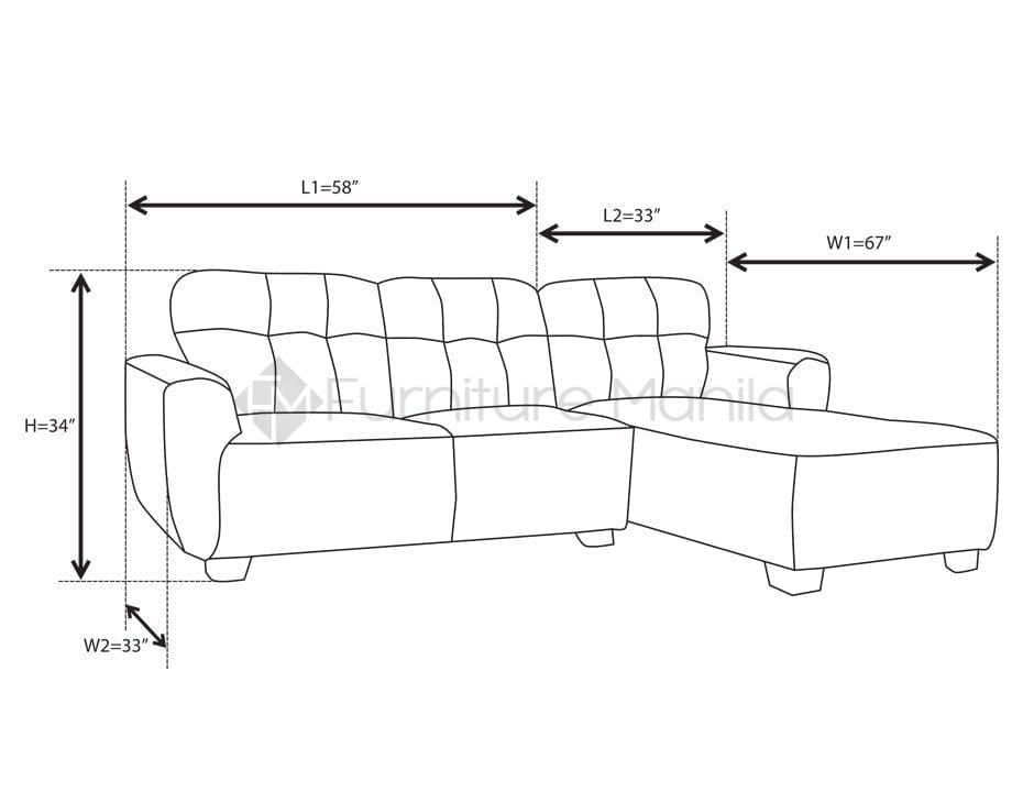 Modern Sectional Sofa Dimensions Sectional Sofas Dimens...