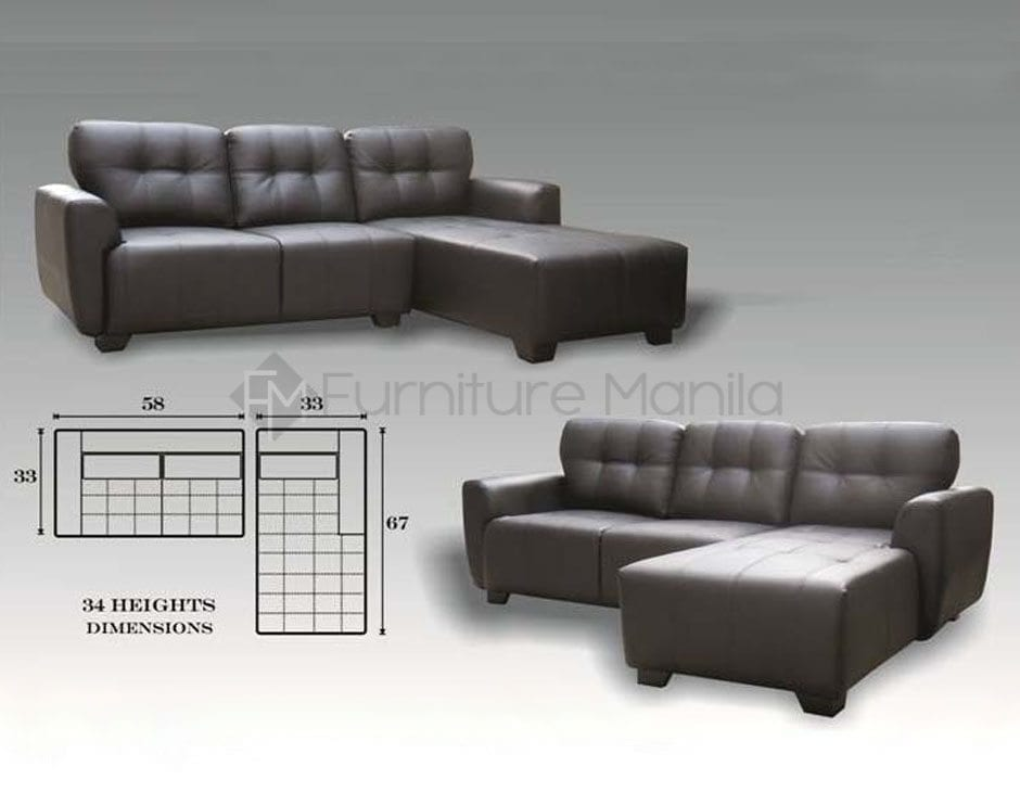 Mhl 0069 St Pierre L Shaped Sofa Home Office Furniture Philippines