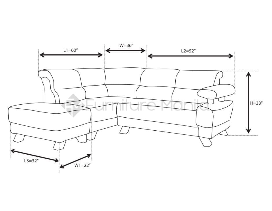 Mhl 0071 Trinidad L Shaped Sofa Home Amp Office Furniture