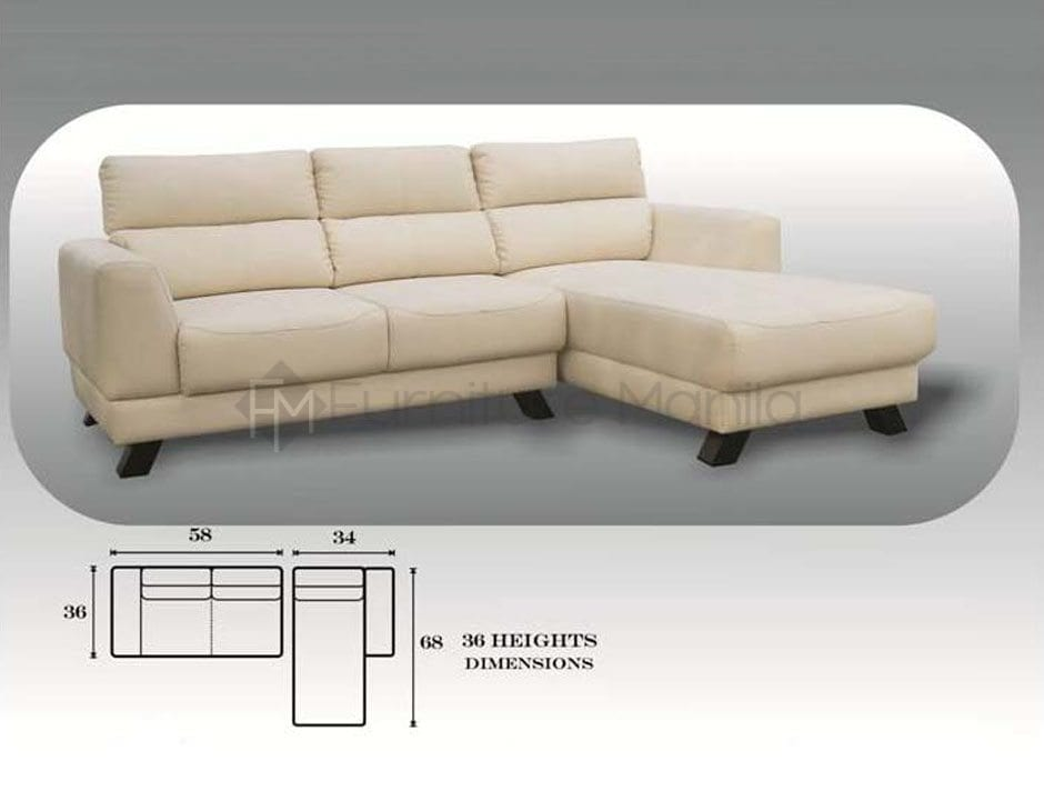 Mhl 0072 azores l shaped sofa home office furniture philippines Home furniture laguna philippines
