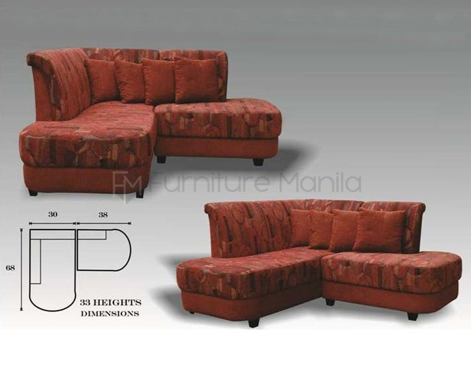 MHL 0078 Philippines L Shaped Sofa