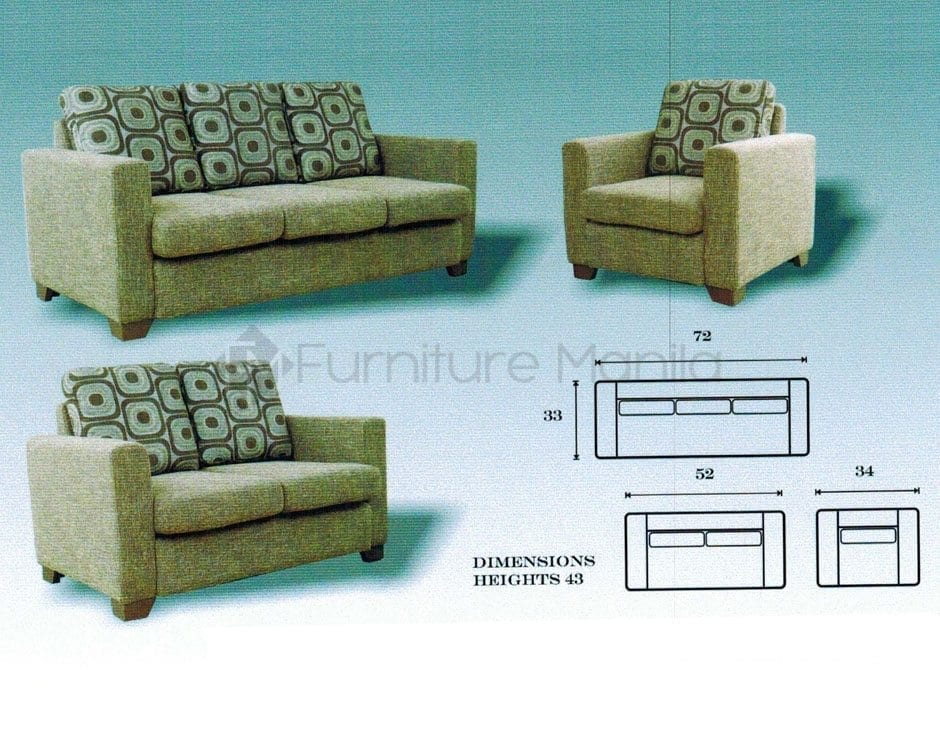 Mhl 0125 lorenzo sofa set 321 home office furniture for Furniture philippines
