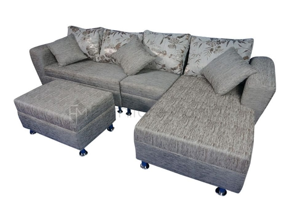 Lorna L Shaped Sofa With Stool