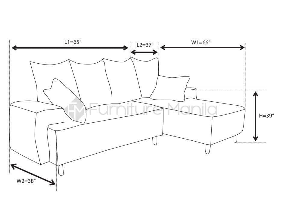 L Shaped Sofa Standard Size Sofa