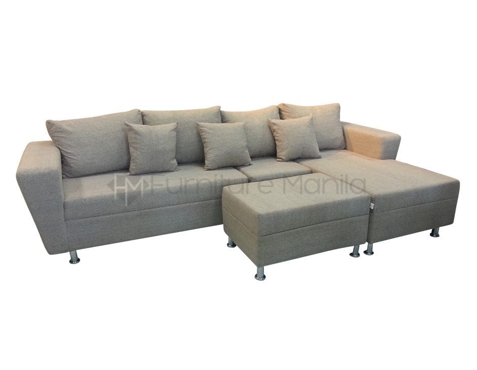 L sofa julien l shaped sofa by int 233 rieurs for Sofa 170 cm breit