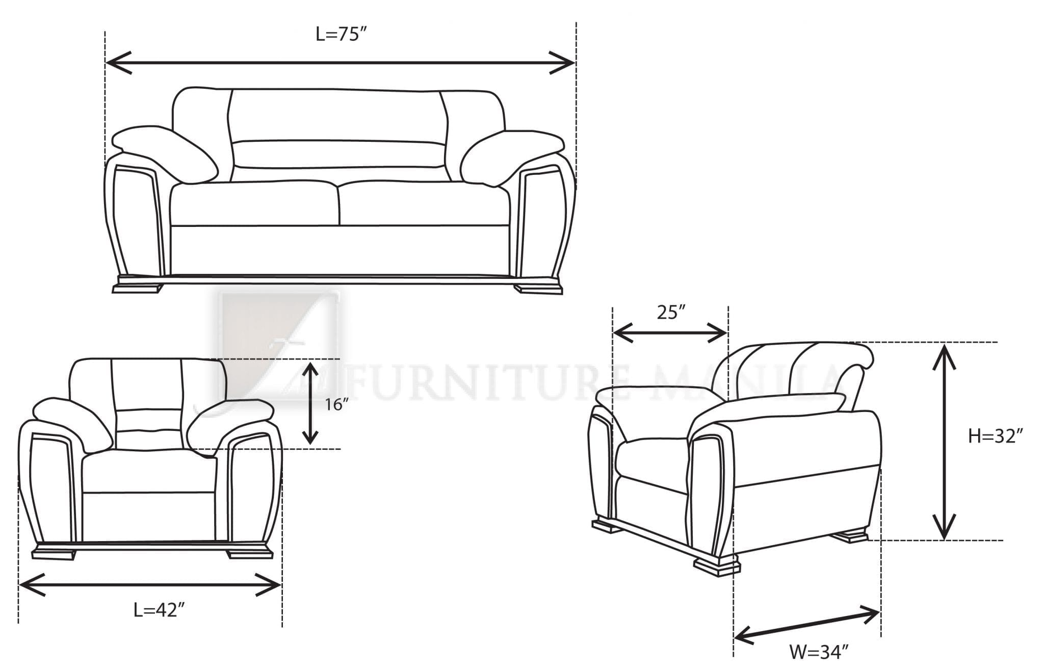 Brooklyn Sofa Set