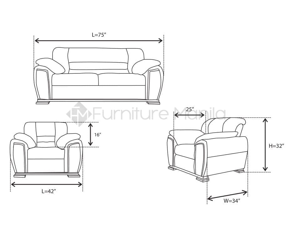 Brooklyn Sofa Set Home Amp Office Furniture Philippines