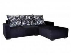 Bertozzi L-Shaped Sofa black