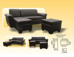 Cheeney L-Shaped Sofa with Stool