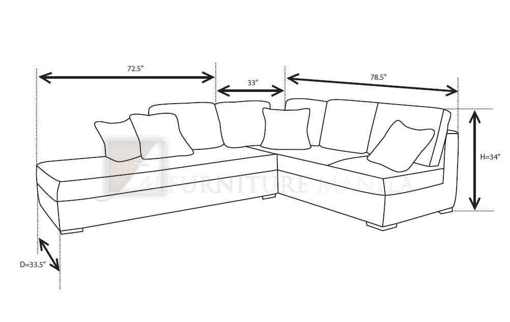 Standard Sofa Length Thesofa Furniture Manila