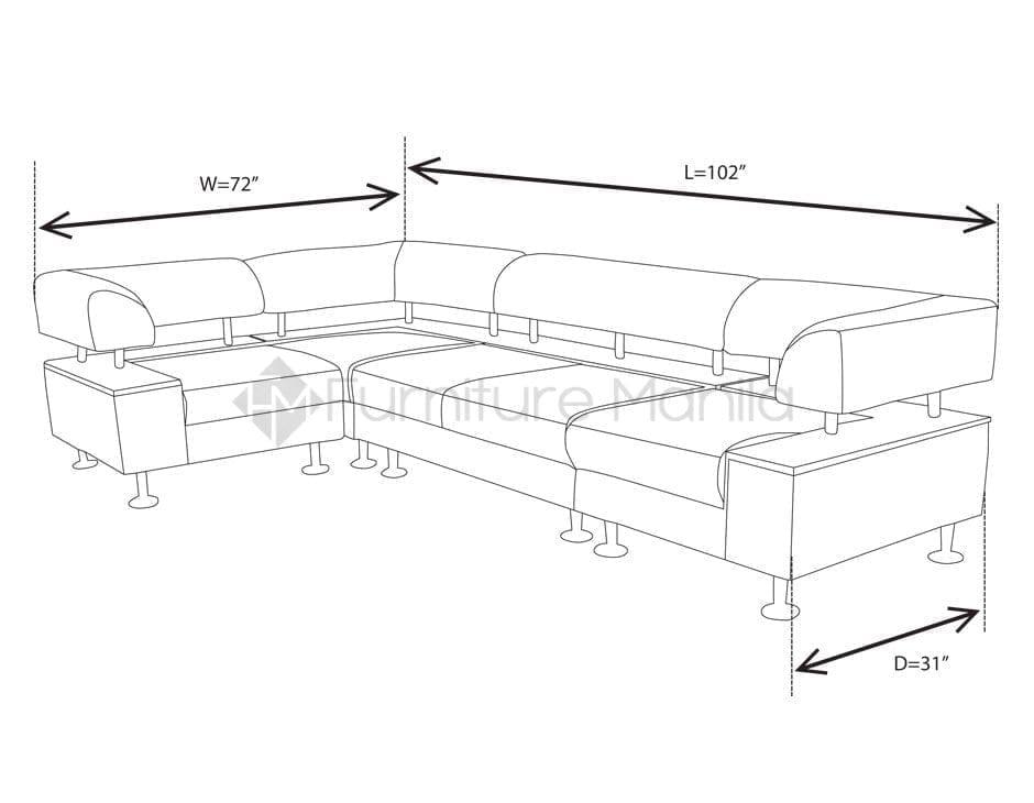 Dimensions Of L Shaped Sofa Baci Living Room