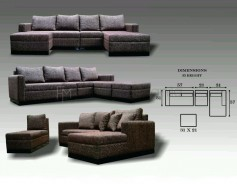 Loreley L-Shaped Sofa with Stool