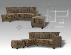 MHL 0080 Rwanda L-Shaped Sofa with Stool