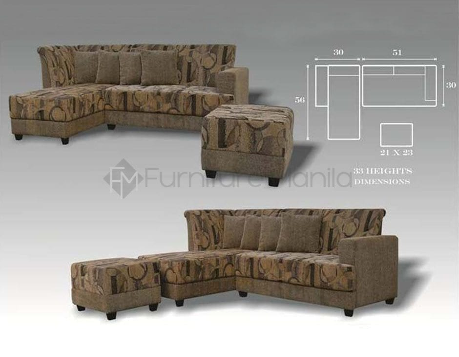 Mhl 0080 Rwanda L Shaped Sofa With Stool Home Office Furniture Philippines