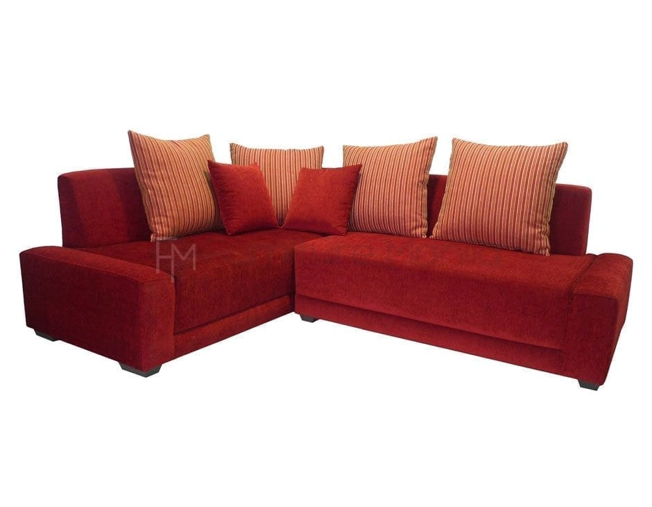 Red l shaped sofa comfy l shaped couch leather white red for L shaped sofa