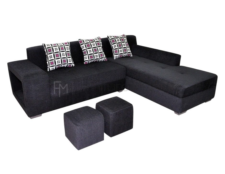Sabatini L-Shaped Sofa with 2 Stools | Furniture Manila Philippines