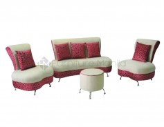 Silverstone Sofa Set with Stool