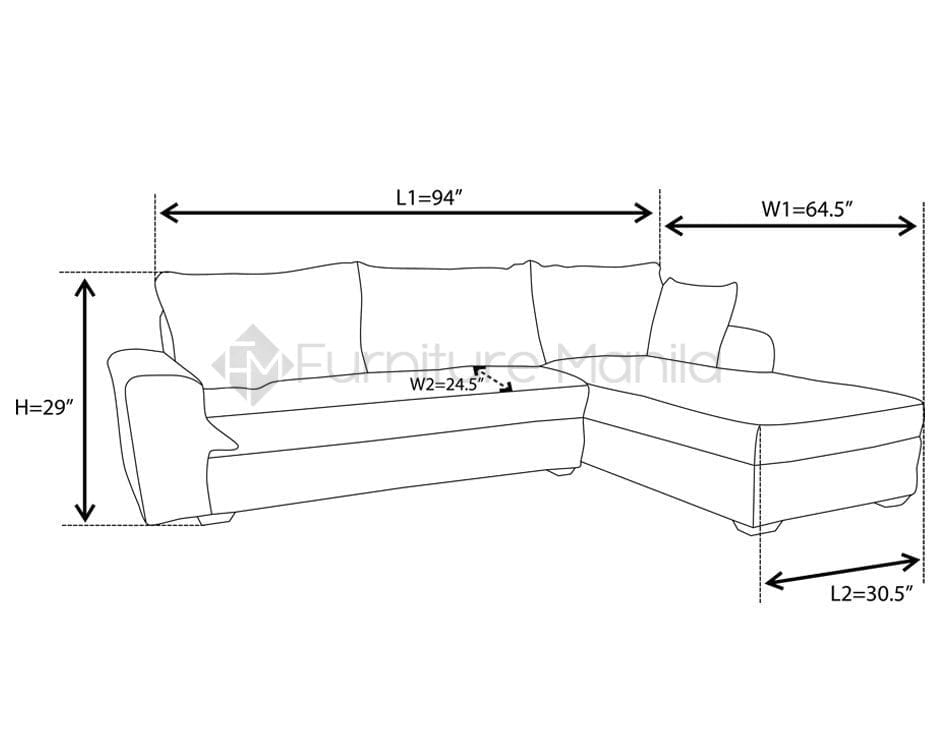 Tess L Shaped Sofa Dimension Home Office Furniture Philippines