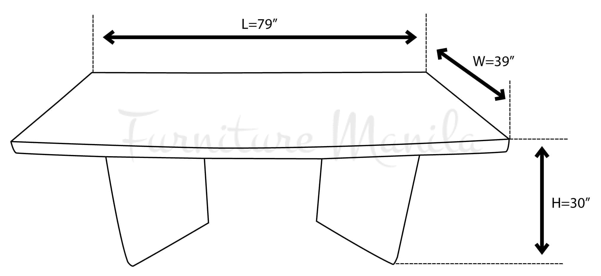 CT-9081 Conference Table Dimension