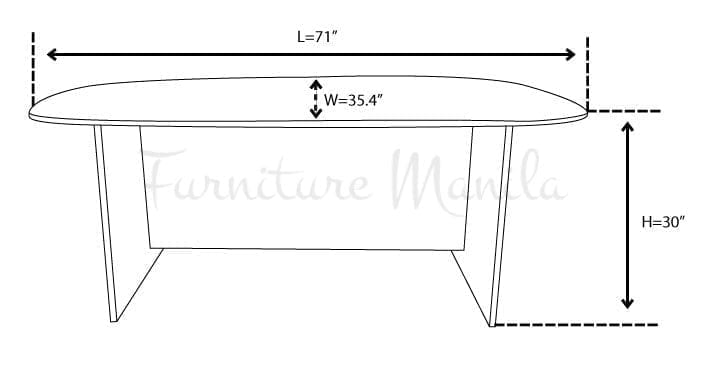 L1800C CONFERENCE TABLE DIMENSION | Home & Office Furniture